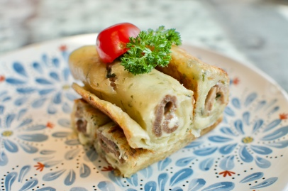 Scallion Pancake Beef Wrap